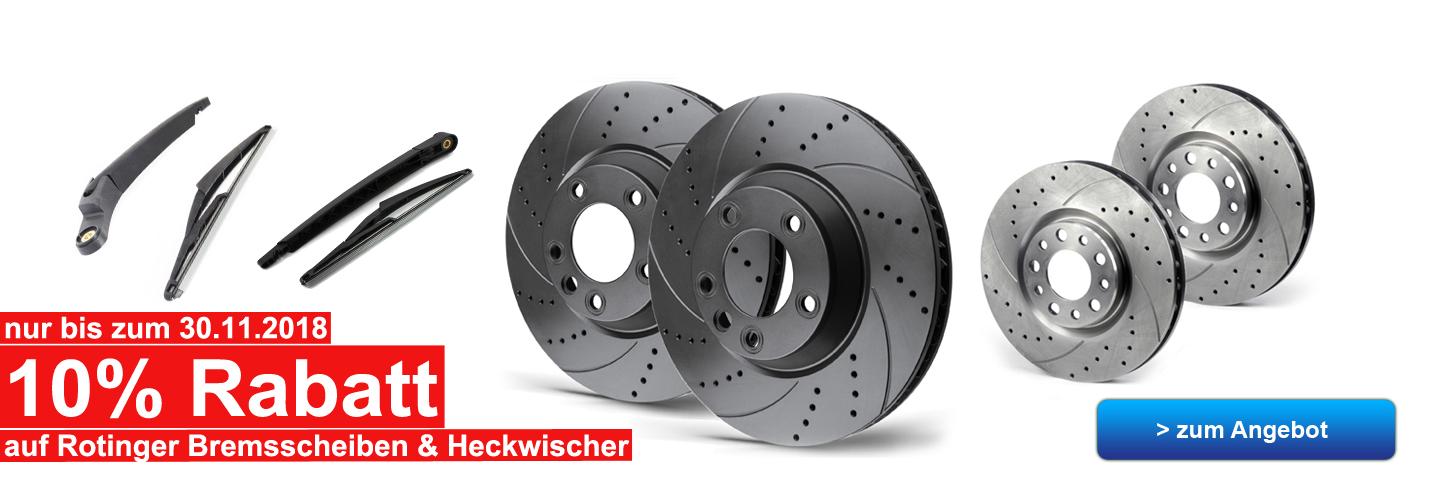 Rotinger Bremsscheiben & Heckwischer Rabatt